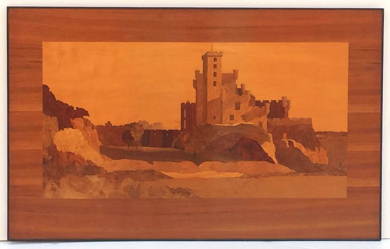 Large Scottish Marquetry Panel of Dunvegan Castle 4