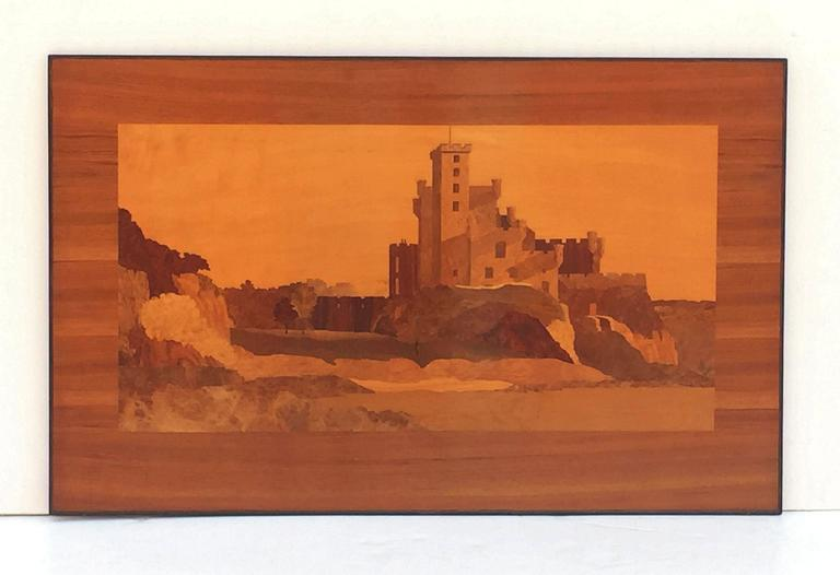 Large Scottish Marquetry Panel of Dunvegan Castle 3