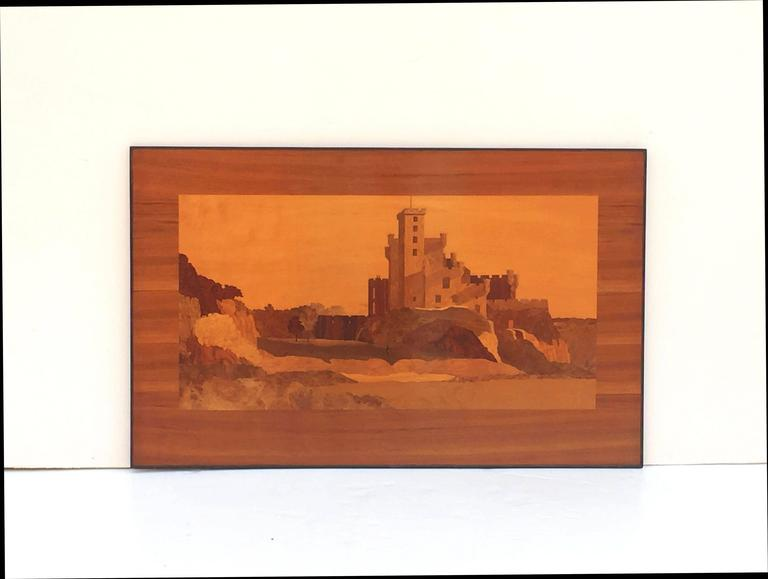 Large Scottish Marquetry Panel of Dunvegan Castle 2