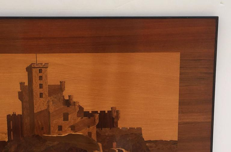 Large Scottish Marquetry Panel of Dunvegan Castle 6