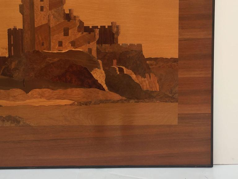 Large Scottish Marquetry Panel of Dunvegan Castle 9