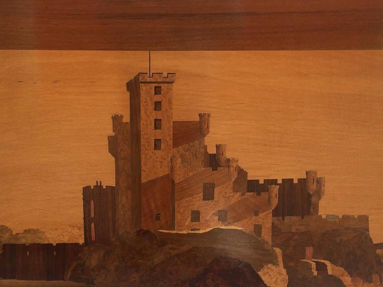 Large Scottish Marquetry Panel of Dunvegan Castle 8