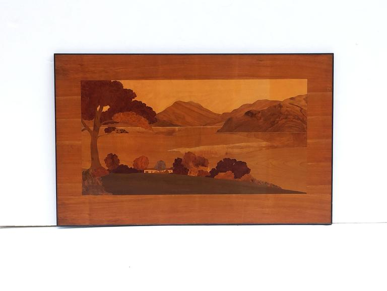 Large Scottish Marquetry Panel of Loch Fyne, Argyll 2