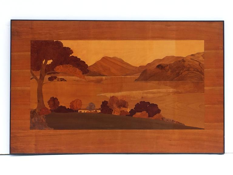 Large Scottish Marquetry Panel of Loch Fyne, Argyll 3