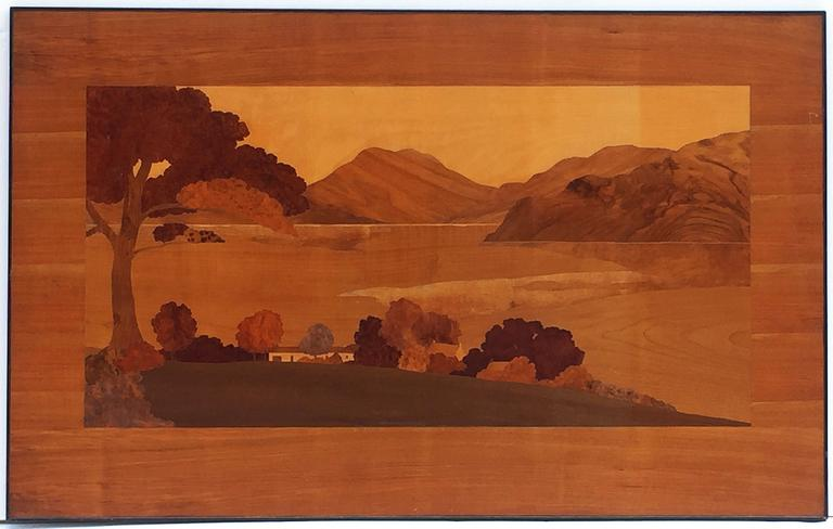 Large Scottish Marquetry Panel of Loch Fyne, Argyll 4