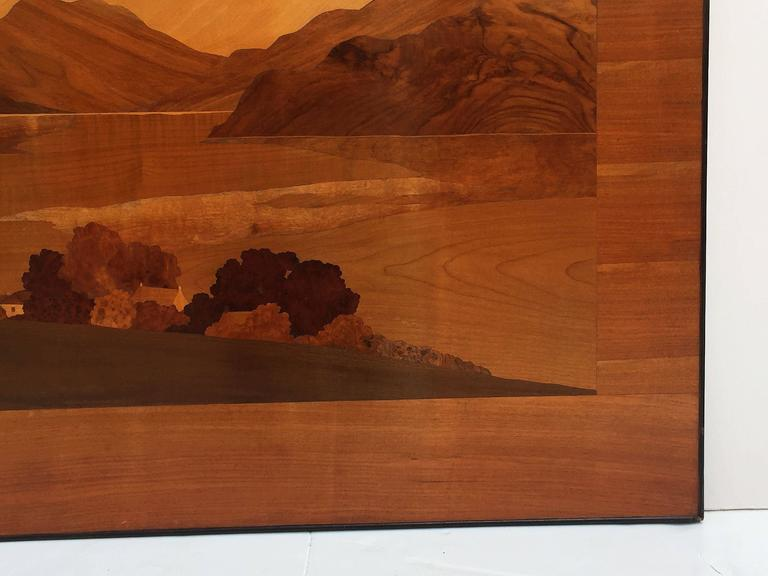 Large Scottish Marquetry Panel of Loch Fyne, Argyll 8
