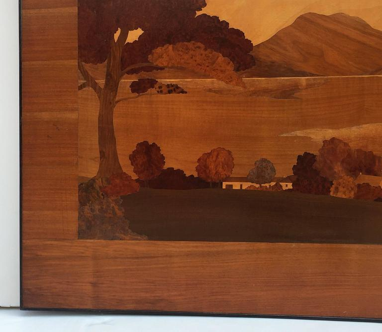 Large Scottish Marquetry Panel of Loch Fyne, Argyll 7