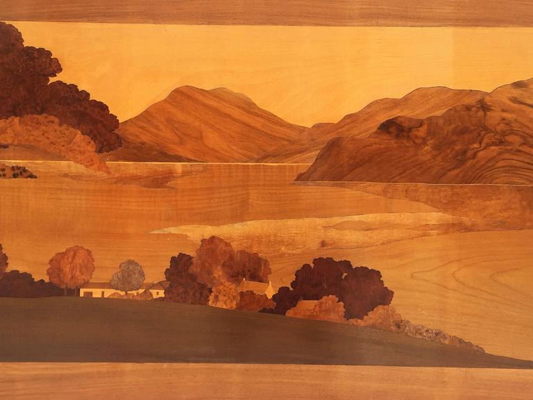 Large Scottish Marquetry Panel of Loch Fyne, Argyll 9