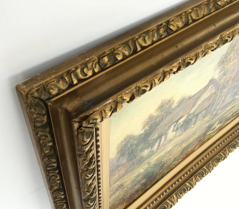 Framed Landscape Oil Painting on Canvas by W.S. Myles, circa 1850-1911 For Sale 4