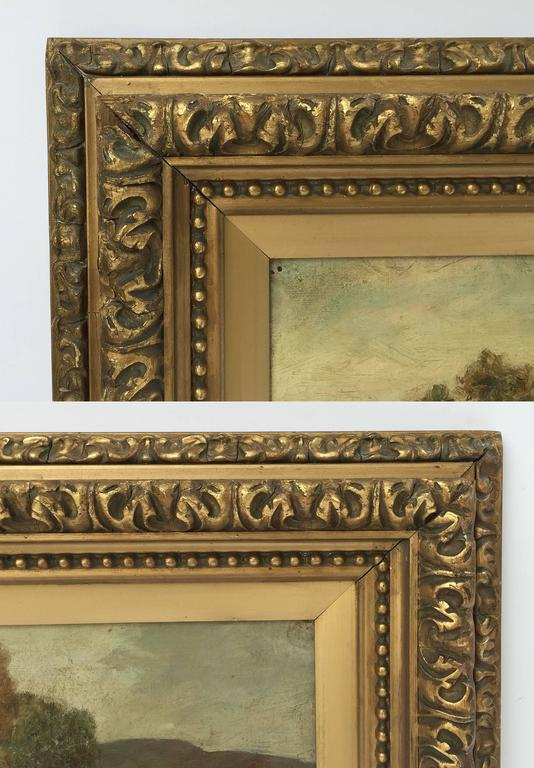 Framed Landscape Oil Painting on Canvas by W.S. Myles, circa 1850-1911 For Sale 2