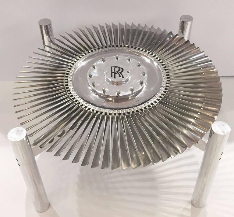 Rolls Royce Jet Engine Impeller Low Table from England 5
