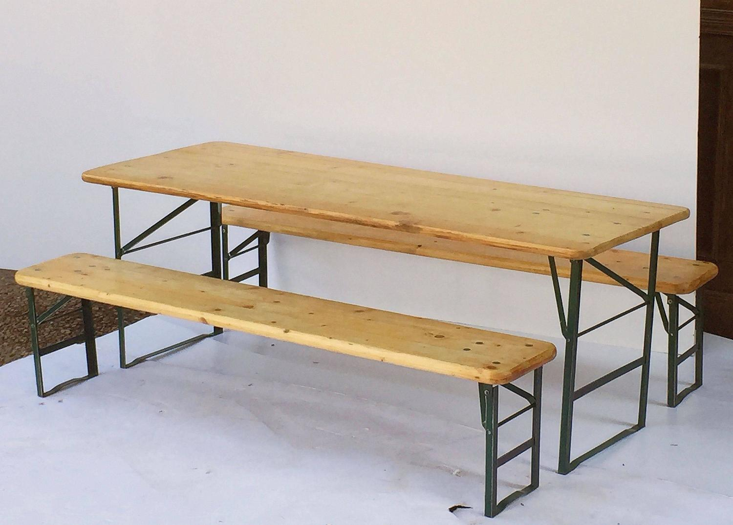 Bavarian Children S Table And Bench Set Including Two Benches At 1stdibs