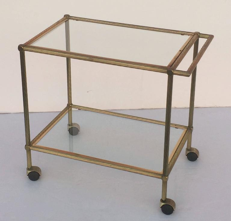 French Drinks Cart Of Brass For Sale At 1stdibs