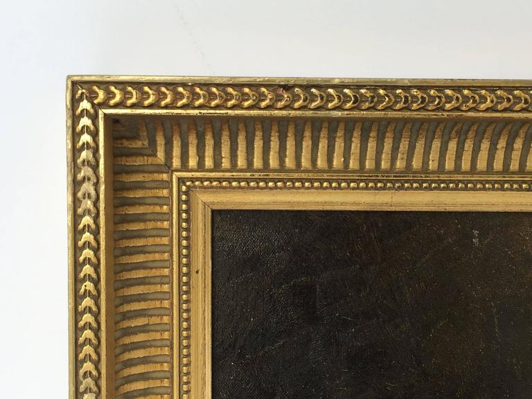 Canvas French Framed Oil Painting, Still Life by Adolphe Louis Castex-Degrange For Sale