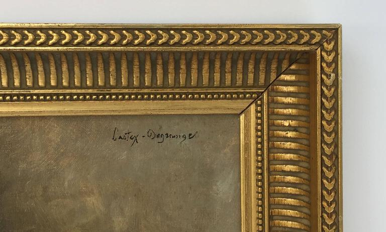 French Framed Oil Painting, Still Life by Adolphe Louis Castex-Degrange For Sale 1