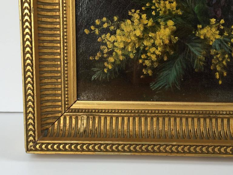 French Framed Oil Painting, Still Life by Adolphe Louis Castex-Degrange For Sale 2