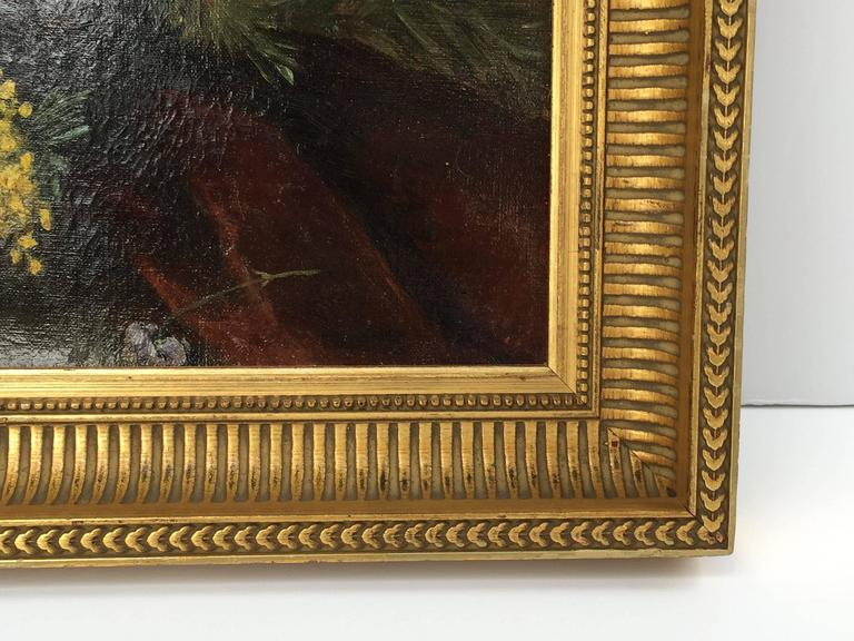 French Framed Oil Painting, Still Life by Adolphe Louis Castex-Degrange For Sale 3