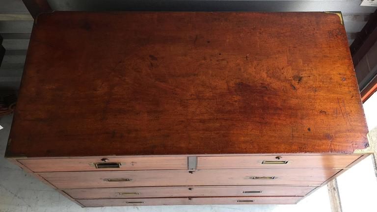 British Military Officer's Campaign Chest of Brass-Bound Teak 5