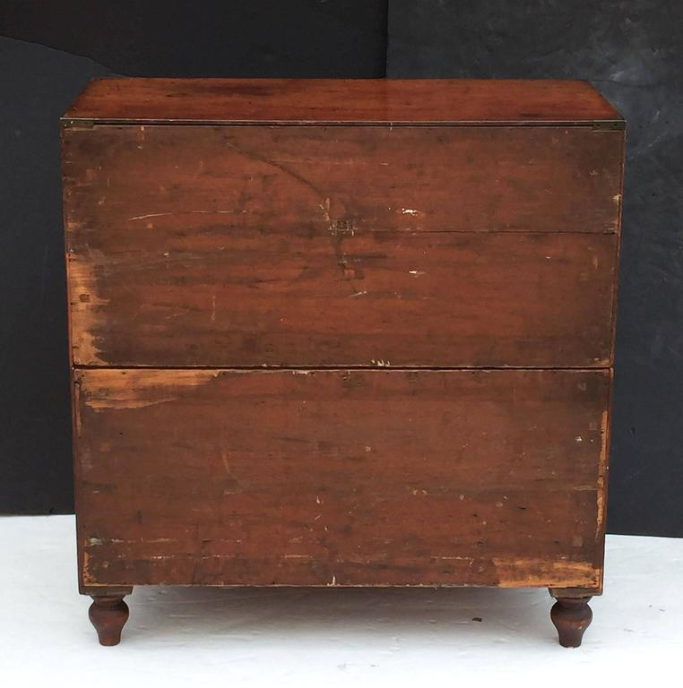 British Military Officer's Campaign Chest of Brass-Bound Teak 10