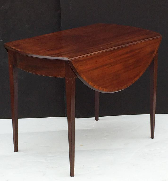 Wood English Sheraton Pembroke Table of Mahogany For Sale