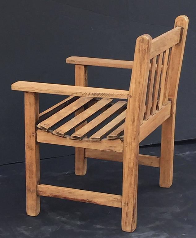 English Lister Chair Of Teak For The Garden And Patio For Sale At 1stdibs