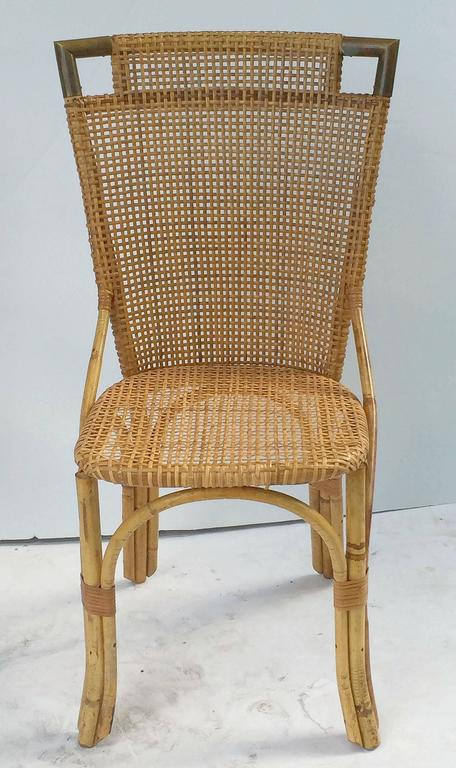 French Bamboo Table and Chairs Set 9