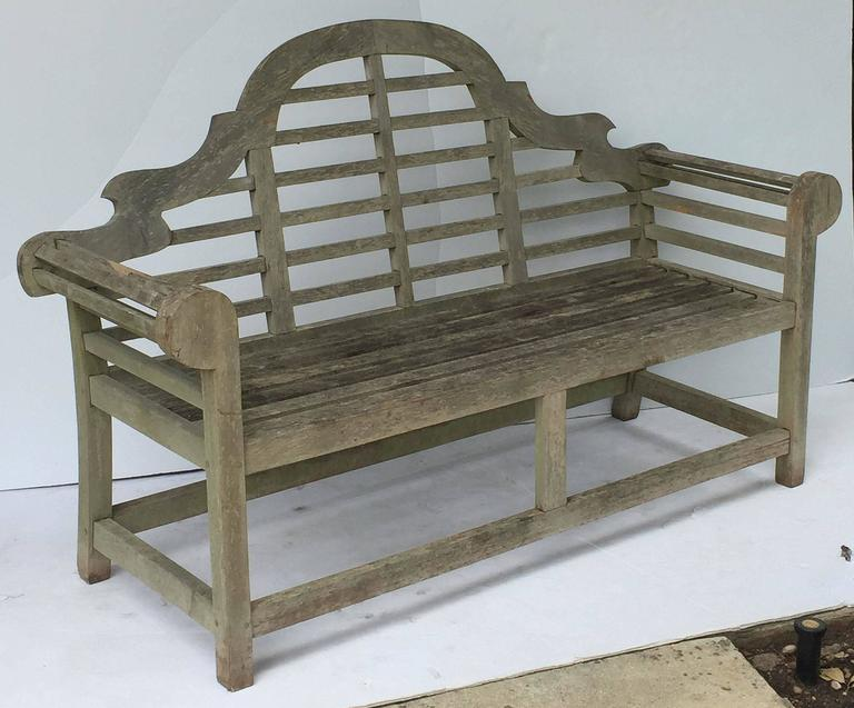 Pair of Lutyens Style Garden Bench Seats of Teak 5