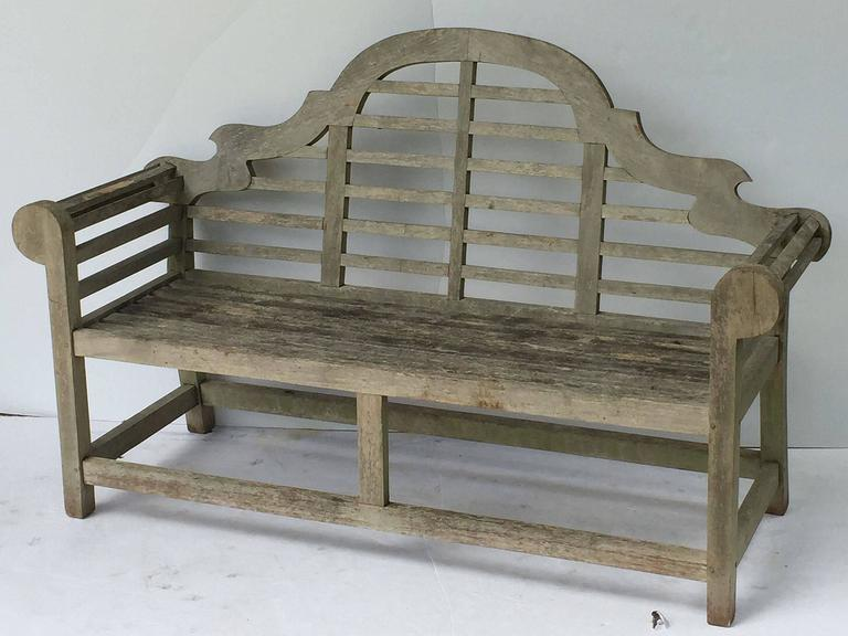 Pair of Lutyens Style Garden Bench Seats of Teak 6