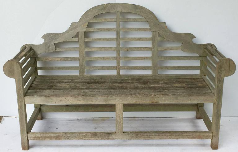 Pair of Lutyens Style Garden Bench Seats of Teak 7
