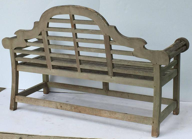 Pair Of Lutyens Style Garden Bench Seats Of Teak At 1stdibs