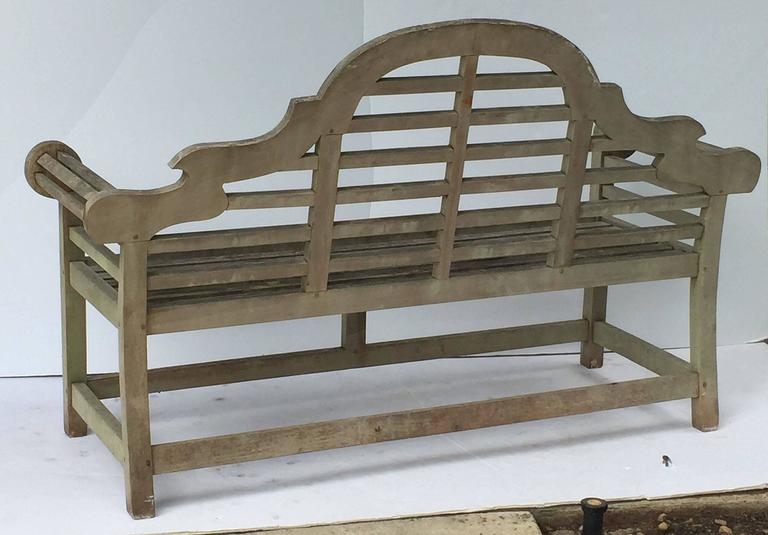 Pair of Lutyens Style Garden Bench Seats of Teak 9