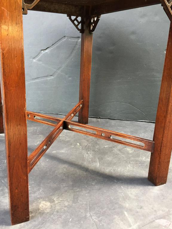 Pair of English Side or End Tables of Mahogany in the Chippendale Style 10