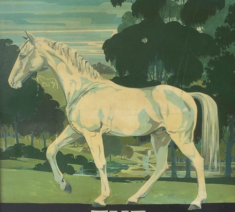 "English Pub Sign ""The White Horse"" 7"