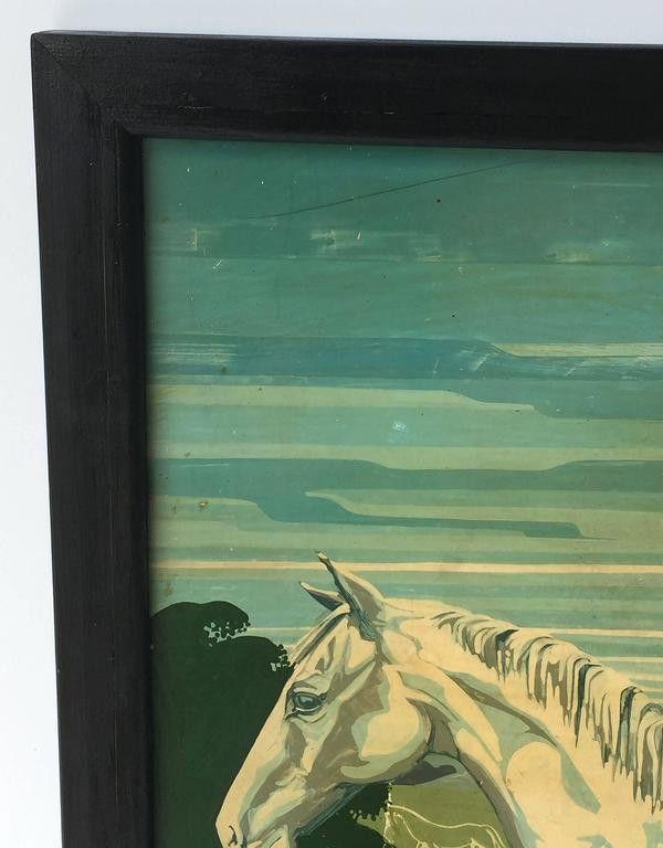 """English Pub Sign """"The White Horse"""" In Excellent Condition For Sale In Austin, TX"""