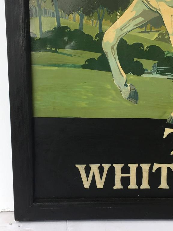"""Wood English Pub Sign """"The White Horse"""" For Sale"""