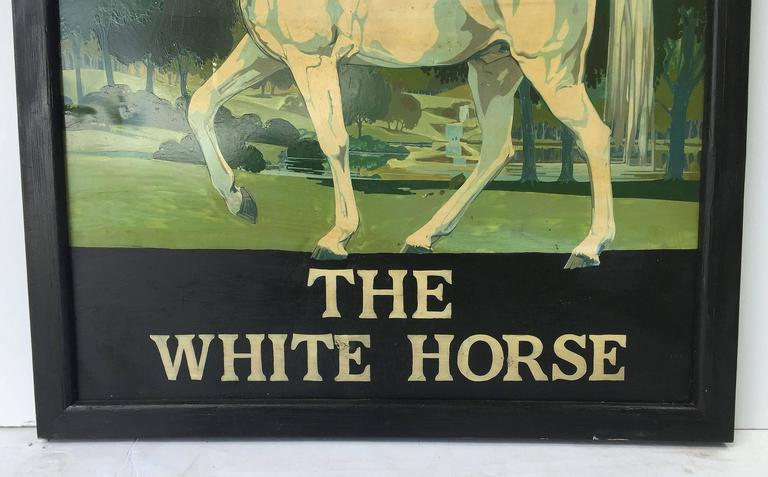 """English Pub Sign """"The White Horse"""" For Sale 4"""