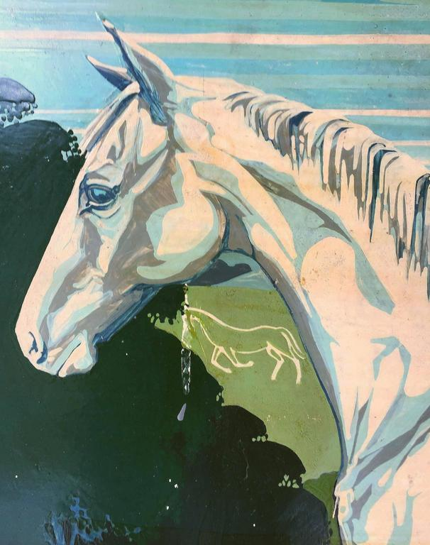 """English Pub Sign """"The White Horse"""" For Sale 3"""