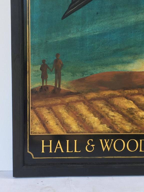 English Pub Sign, Hall & Woodhouse 'Swallow' For Sale 1