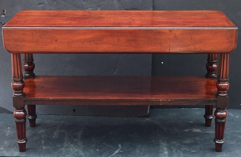 English Console Server of Mahogany with Extended Top For Sale 1