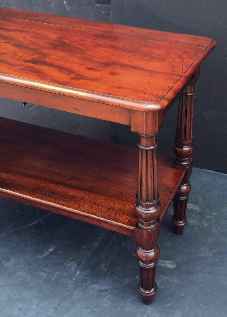 English Console Server of Mahogany with Extended Top For Sale 4