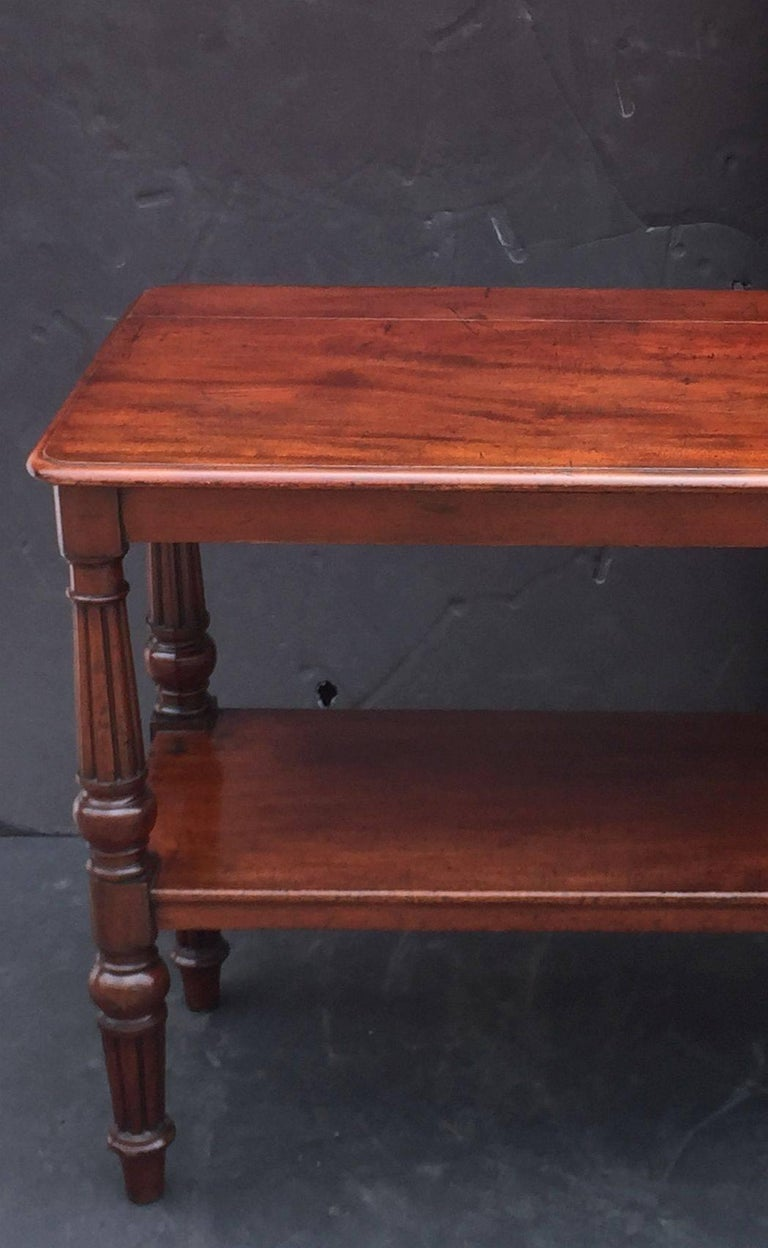 English Console Server of Mahogany with Extended Top For Sale 3