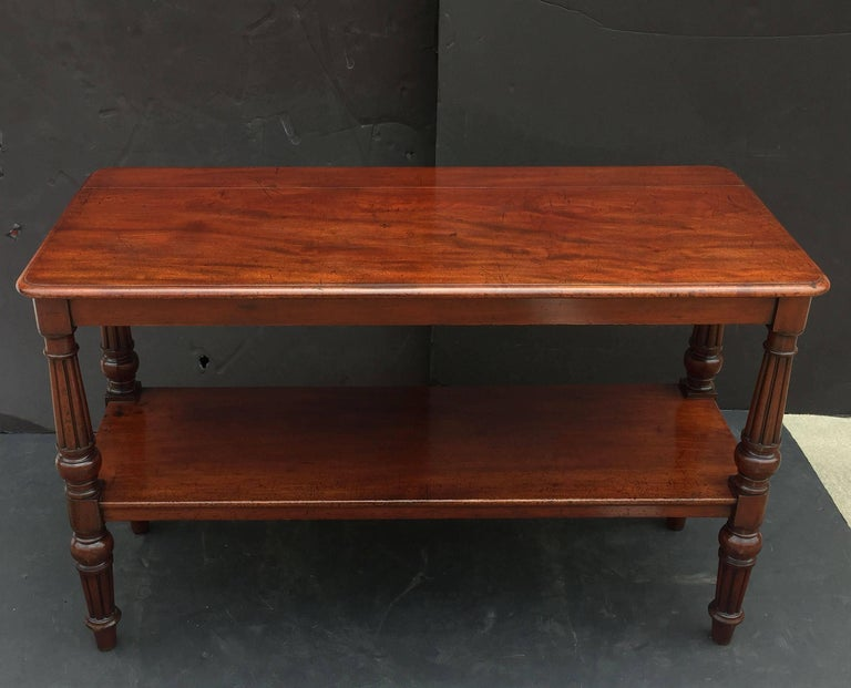 William IV English Console Server of Mahogany with Extended Top For Sale