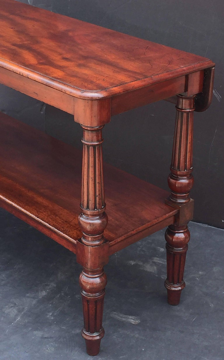 English Console Server of Mahogany with Extended Top For Sale 5