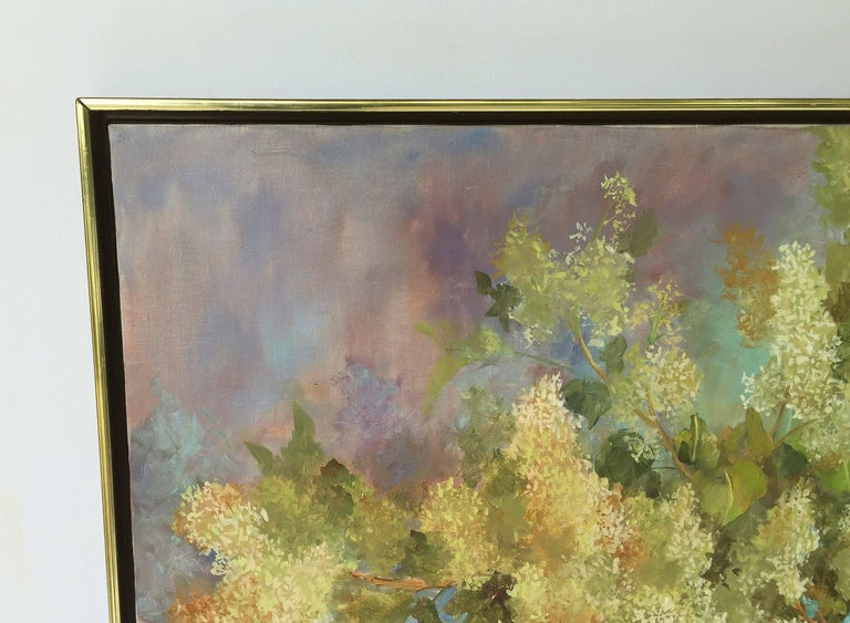 Large American School Still Life Painting on Canvas 3