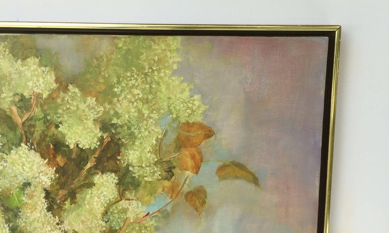 Large American School Still Life Painting on Canvas 4