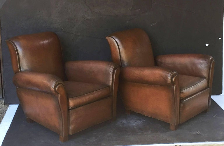 French Leather Club Chairs 2