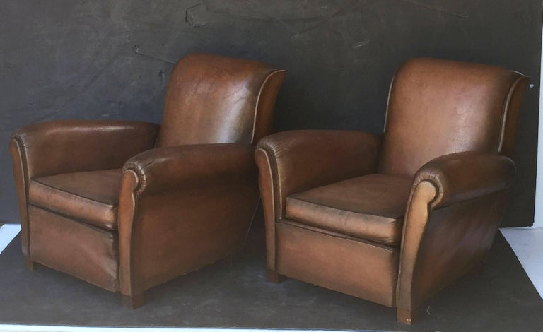 French Leather Club Chairs 4