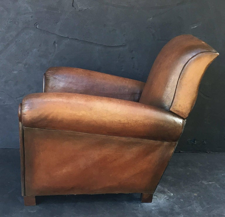 French Leather Club Chairs 8