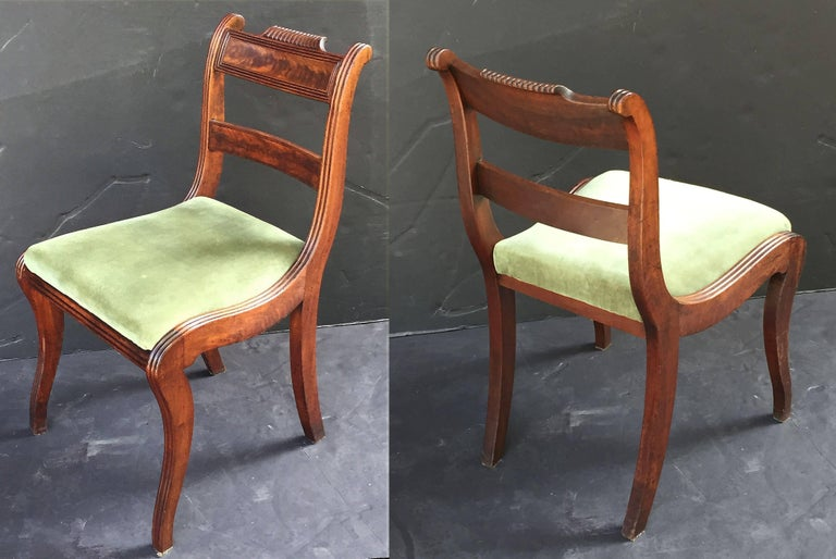 Set Of Scottish Regency Dining Chairs Of Mahogany Two