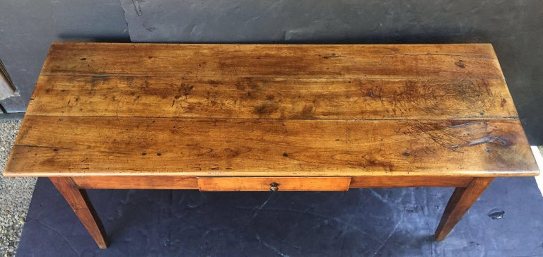 19th Century French Console Server or Sideboard of Cherry For Sale
